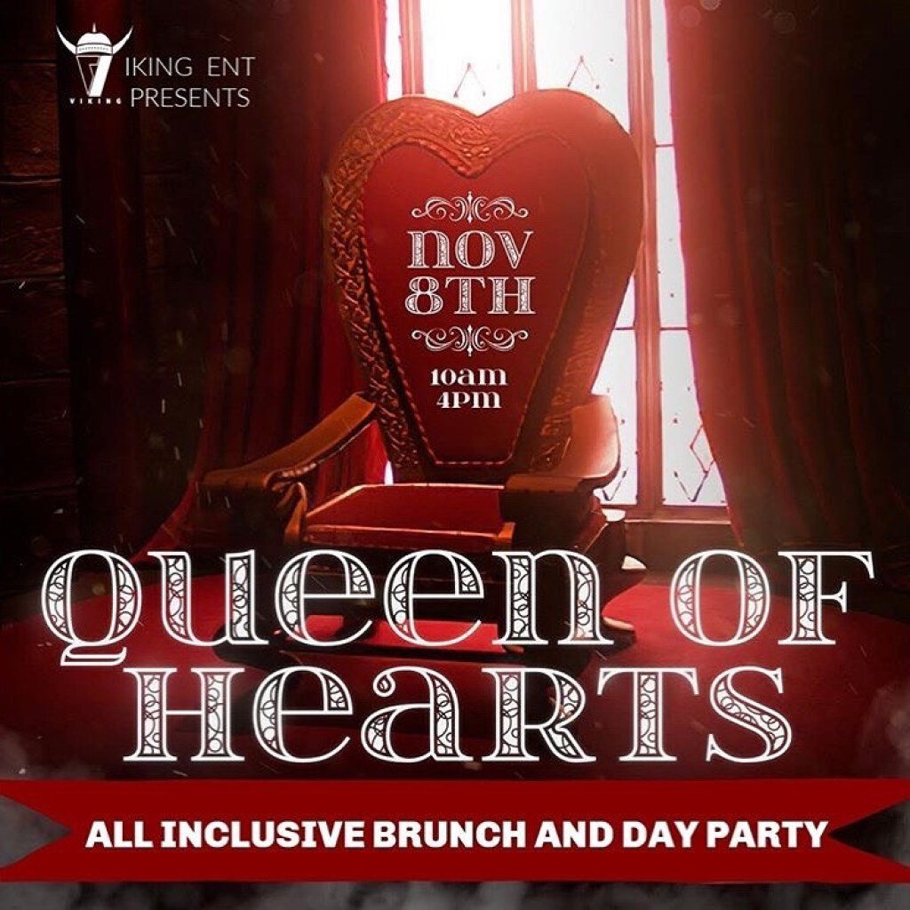Queen Of Hearts flyer or graphic.