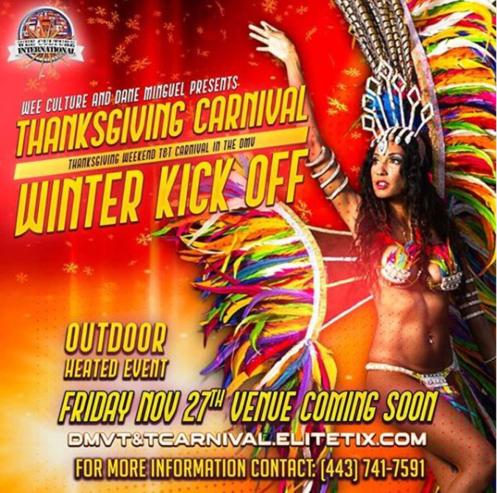 Thanksgiving Carnival flyer or graphic.