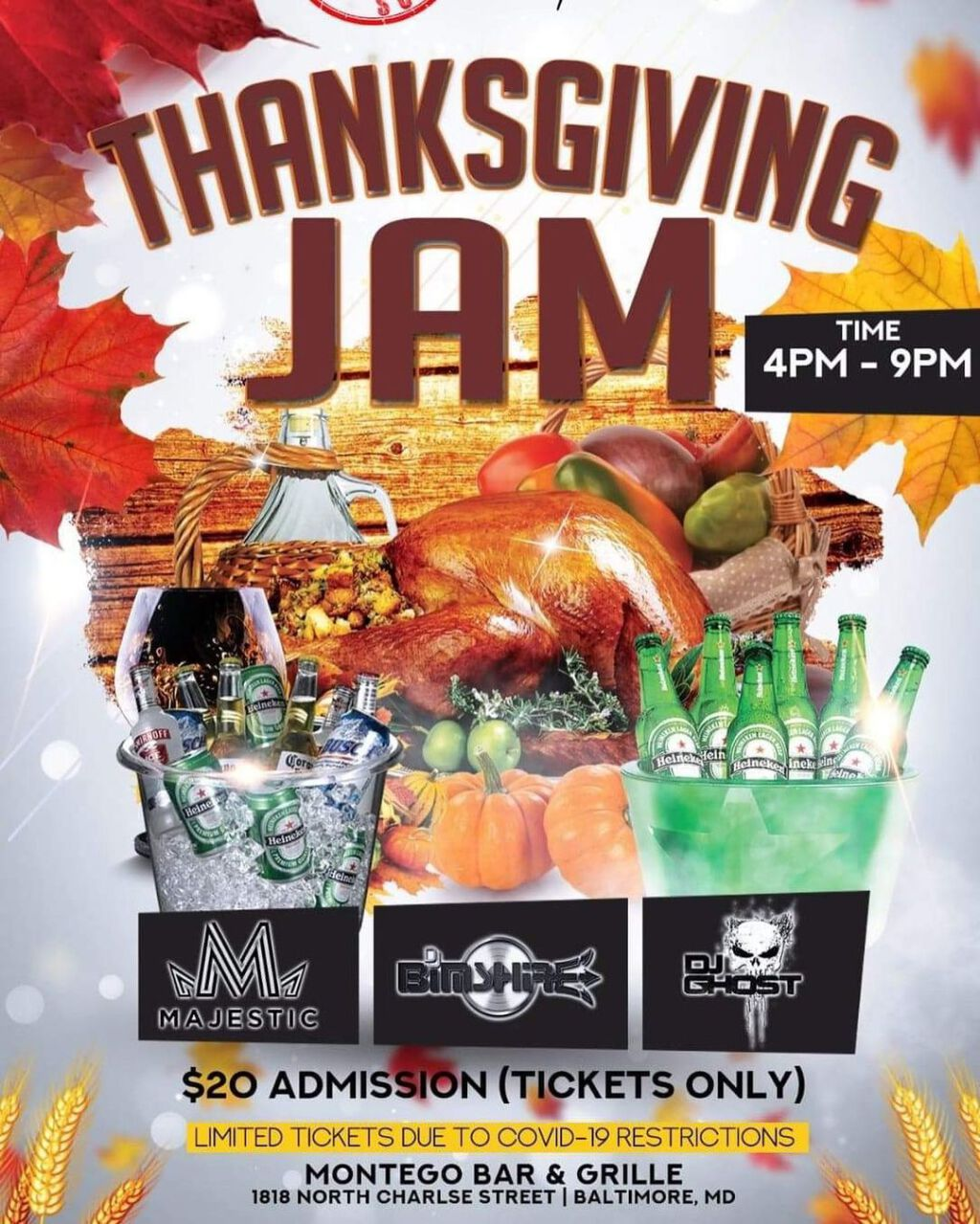 Thanksgiving Jam flyer or graphic.