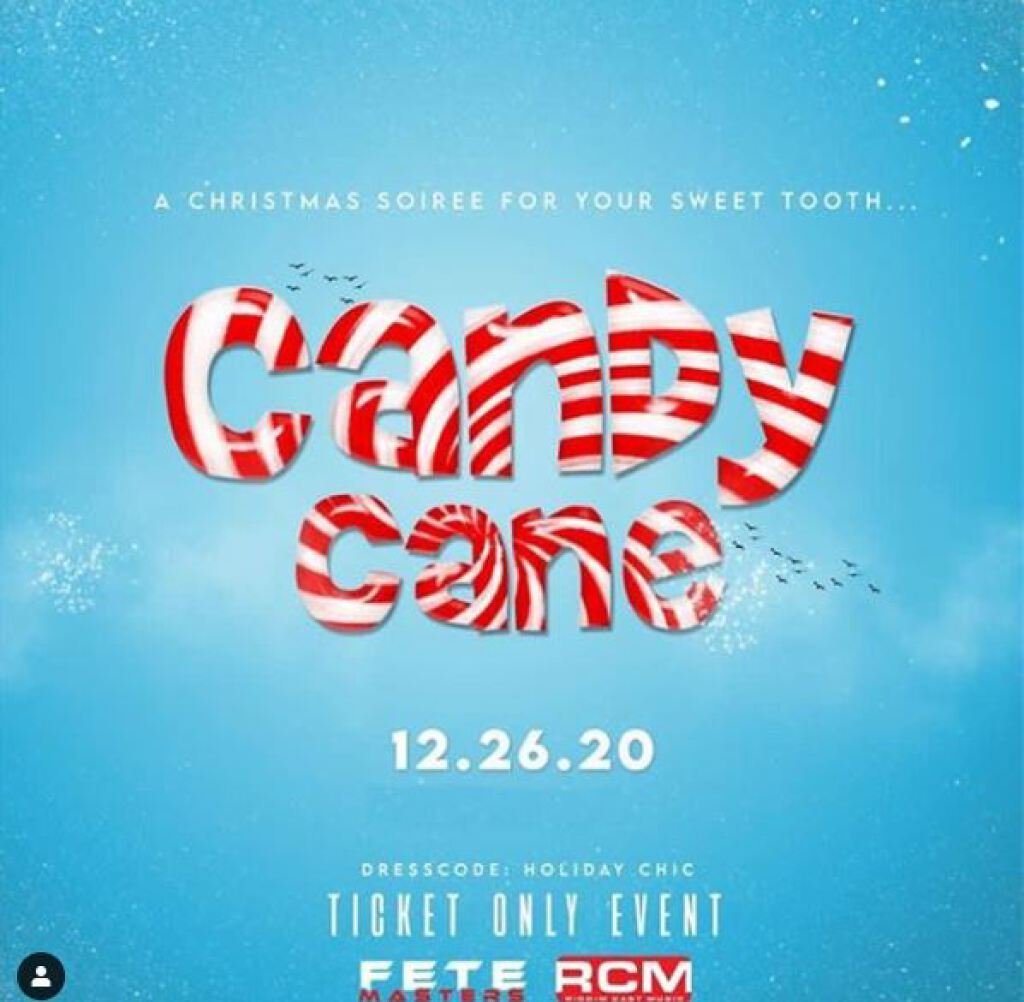 Candy Cane flyer or graphic.