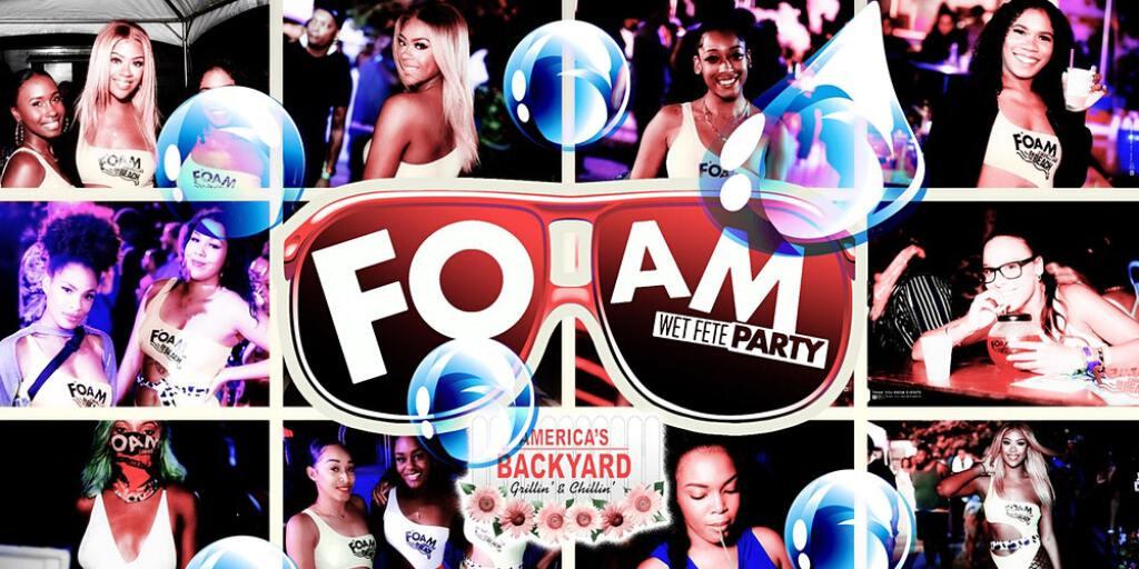 Foam Wet Fete 2021 flyer or graphic.