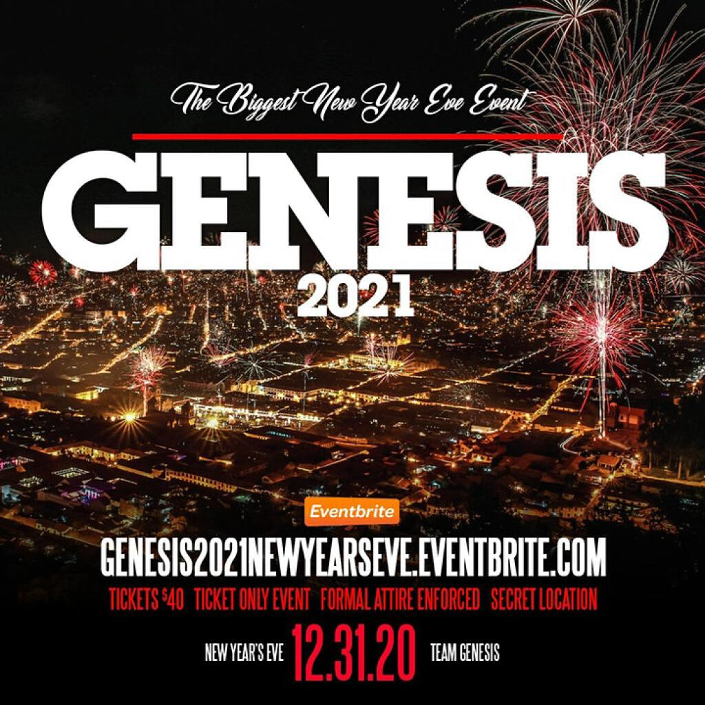 Genesis flyer or graphic.
