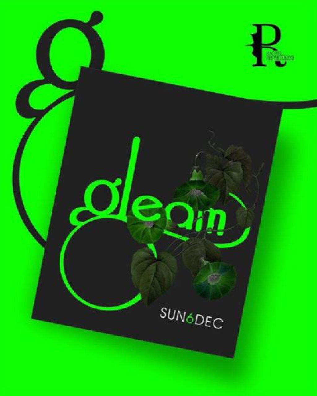 Gleam flyer or graphic.