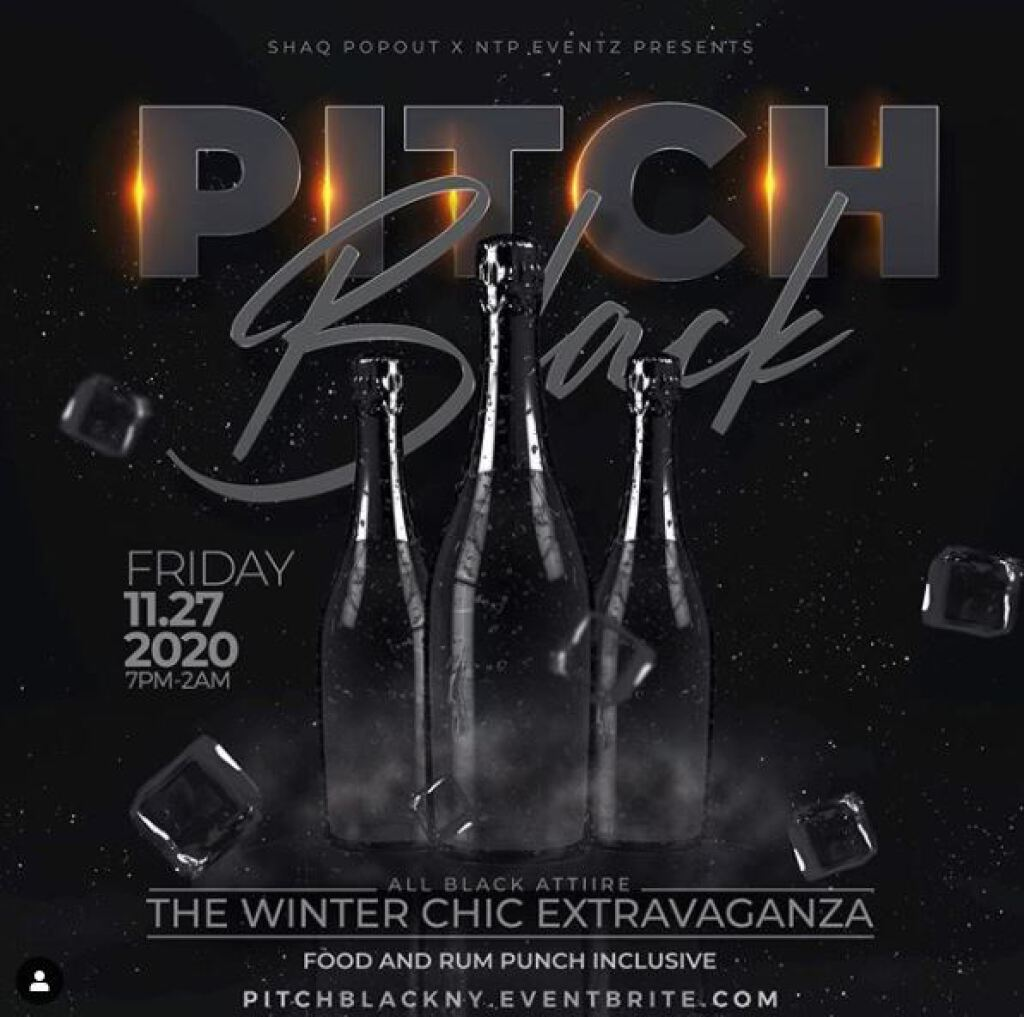 Pitch Black flyer or graphic.