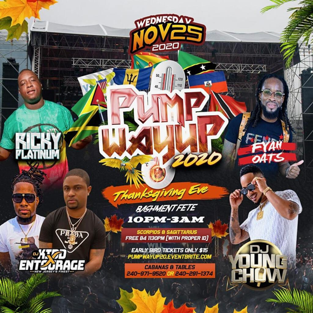 Pump Way Up 2020 flyer or graphic.