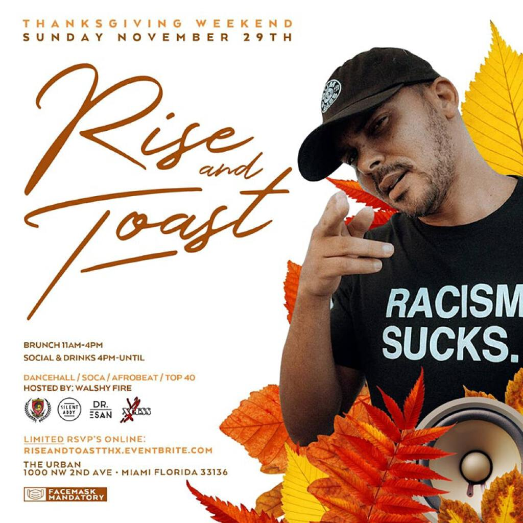 Rise & Toast Brunch flyer or graphic.