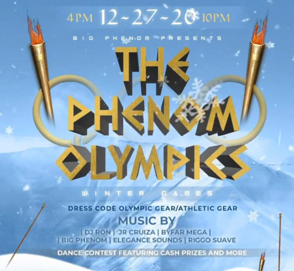 The Phenom Olympics flyer or graphic.