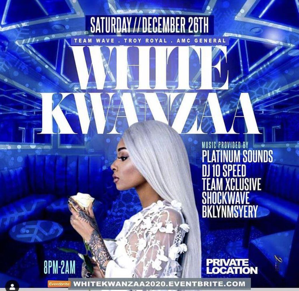 White Kwanzaa flyer or graphic.