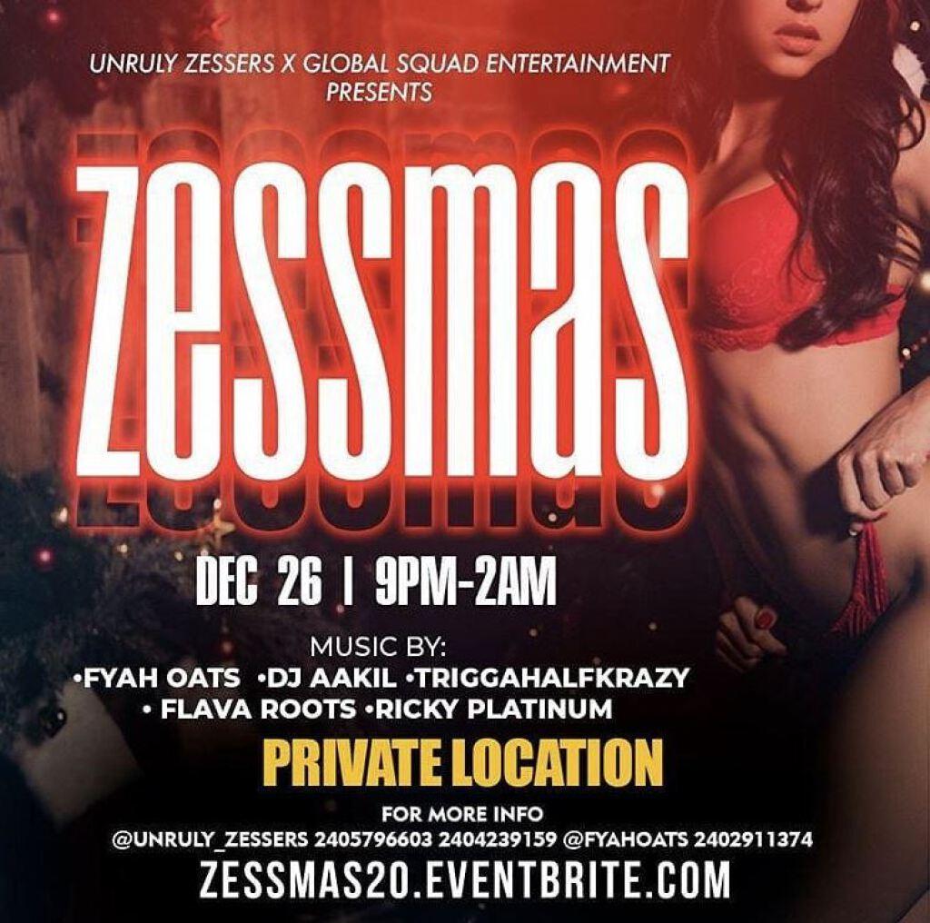 Zessmass flyer or graphic.