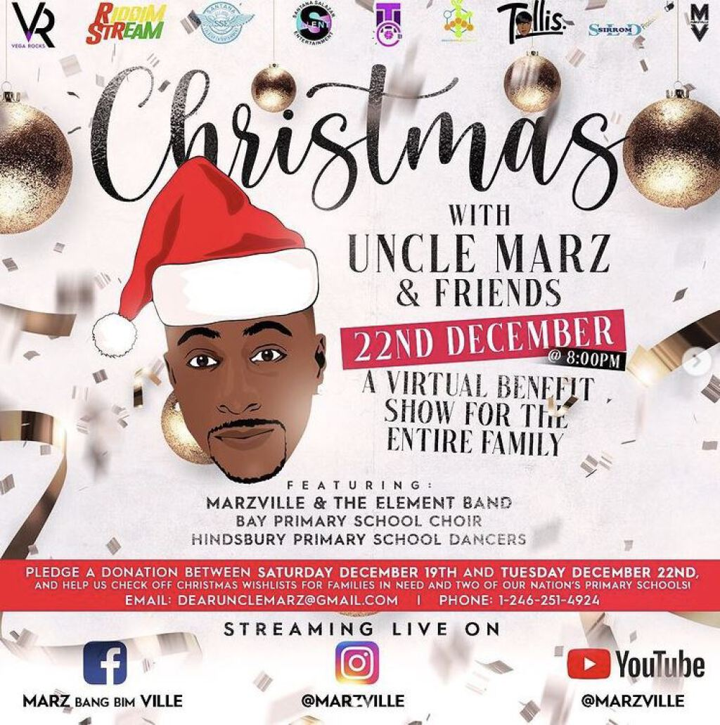 Christmas With Uncle Marz & Friends flyer or graphic.