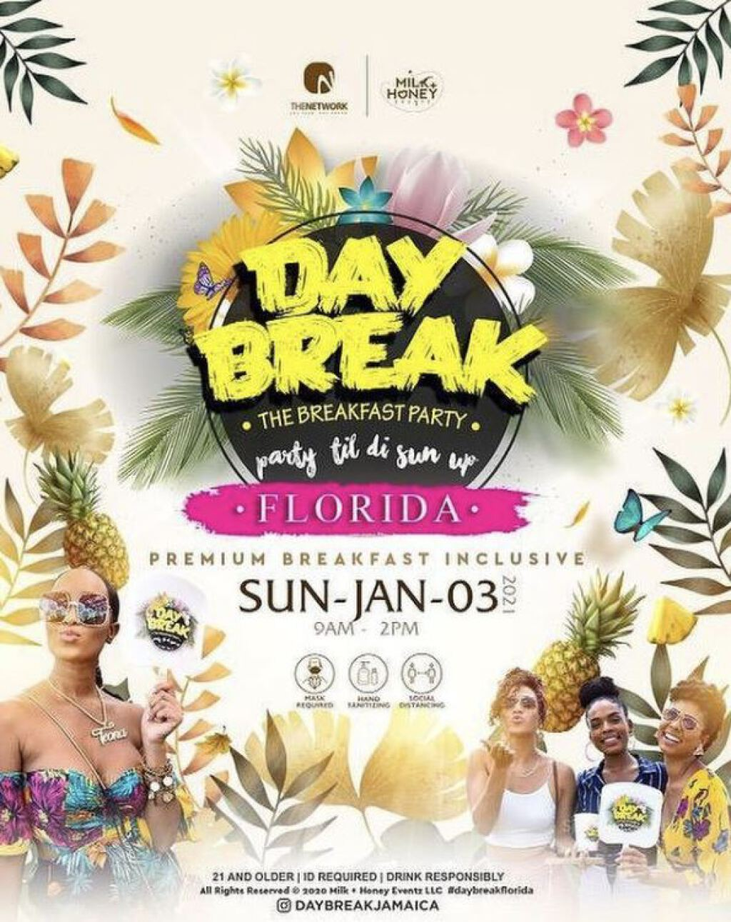 Day Break Breakfast Party flyer or graphic.