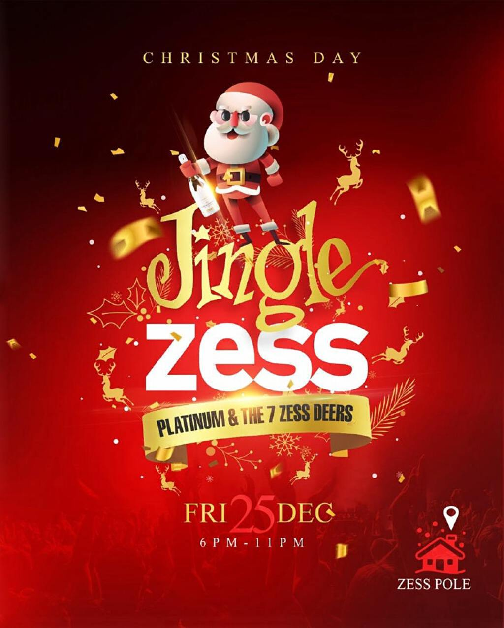 Jingle Zess flyer or graphic.