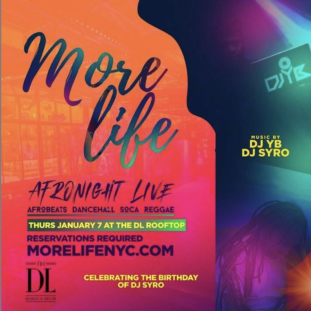 More Life Afro Night Live flyer or graphic.
