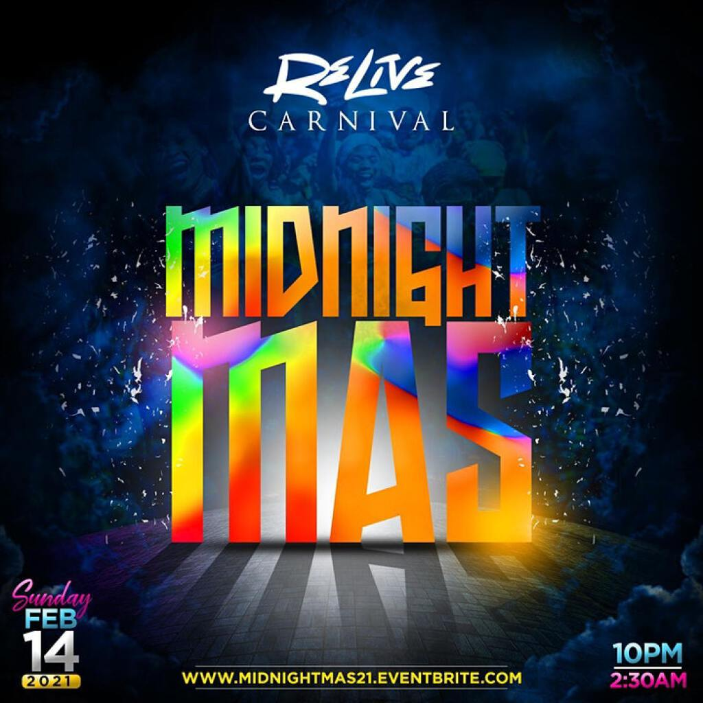 Midnight Mas flyer or graphic.
