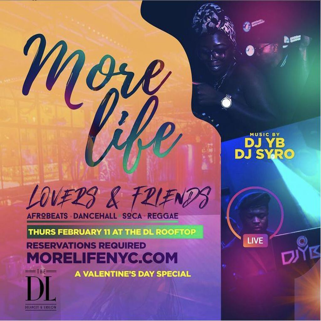 More Life - Lovers & Friends flyer or graphic.