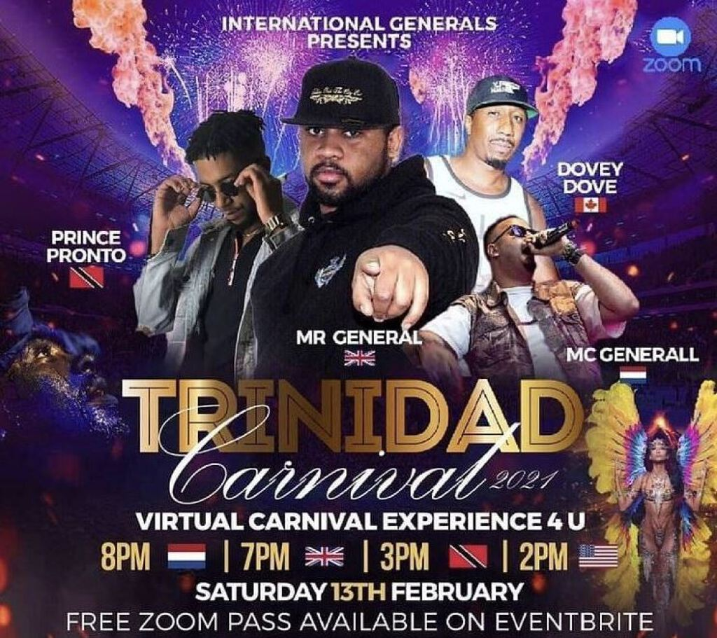 Trinidad Carnival 2021 - Virtual Carnival Experience  flyer or graphic.
