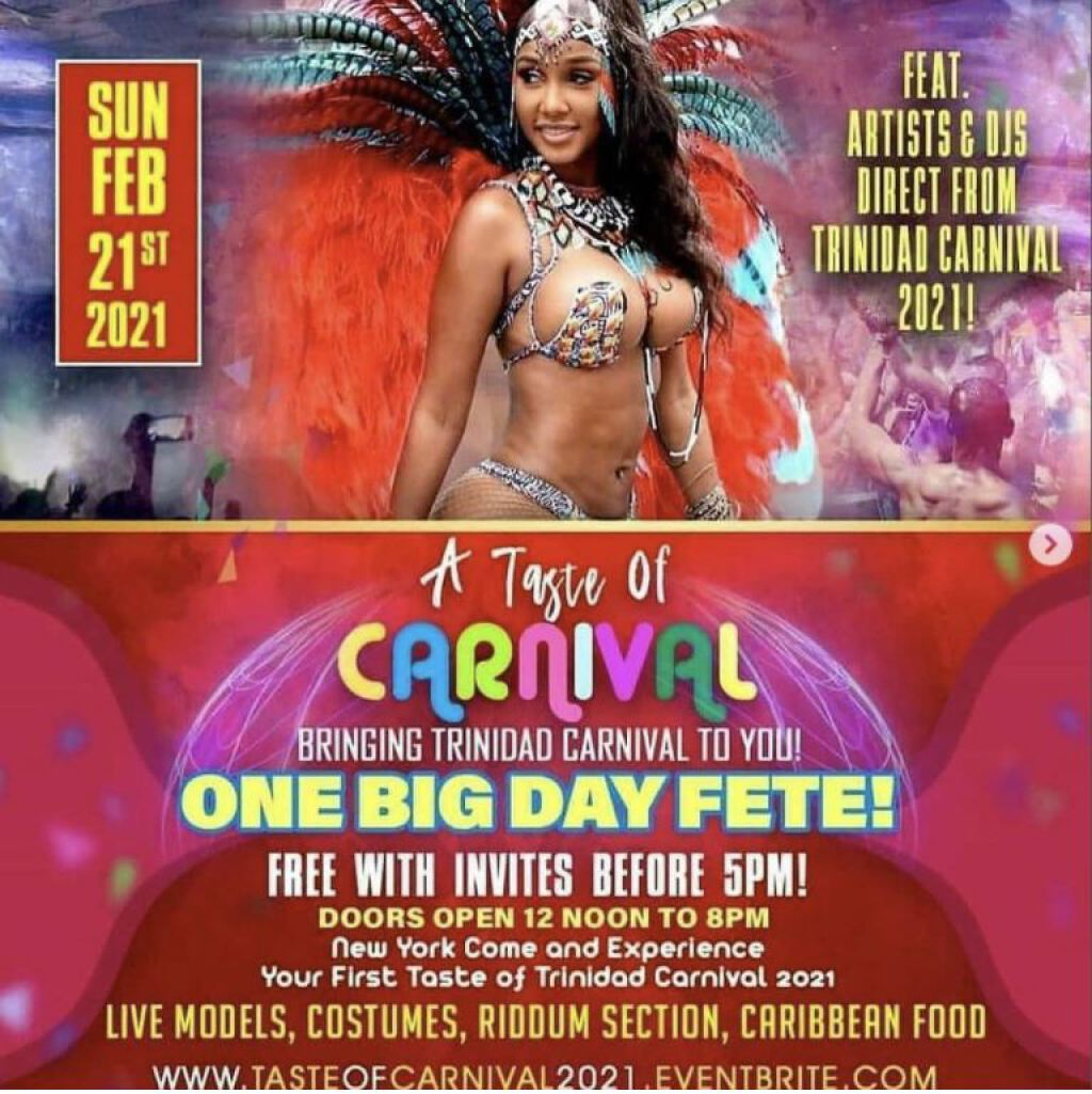 A Taste Of Carnival 2021 flyer or graphic.