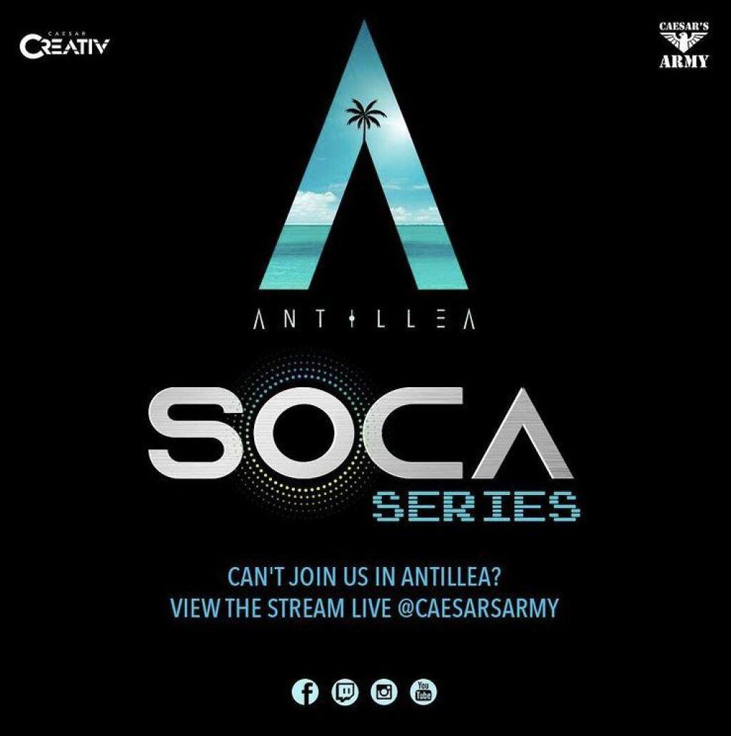 Antillea Soca Series flyer or graphic.