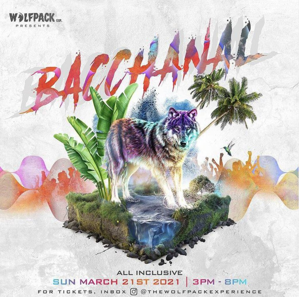 Bacchanal flyer or graphic.