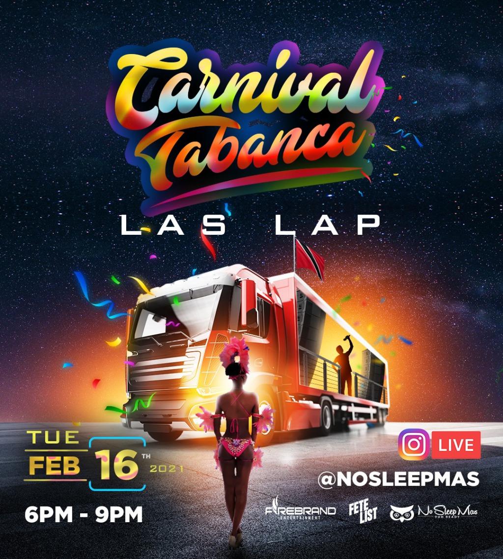 Carnival Tabanca - Las Lap flyer or graphic.