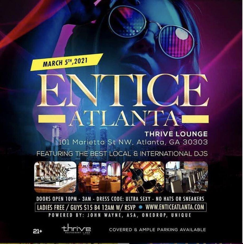 Entice Atlanta flyer or graphic.
