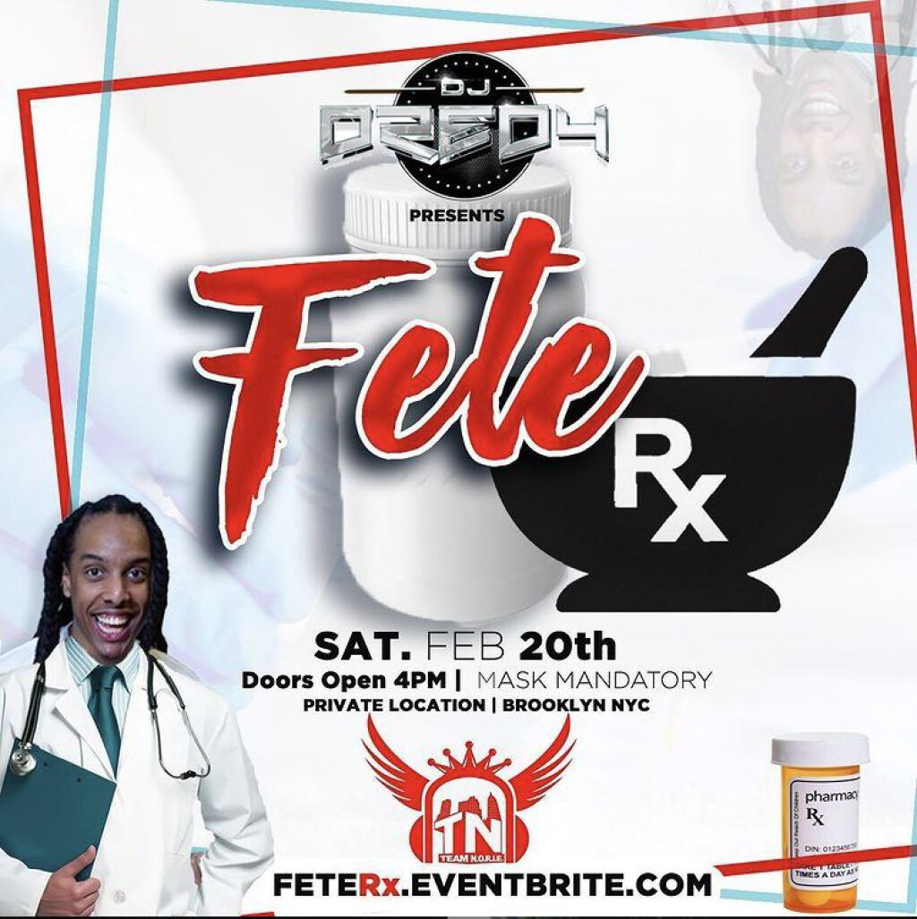 Fete Rx flyer or graphic.