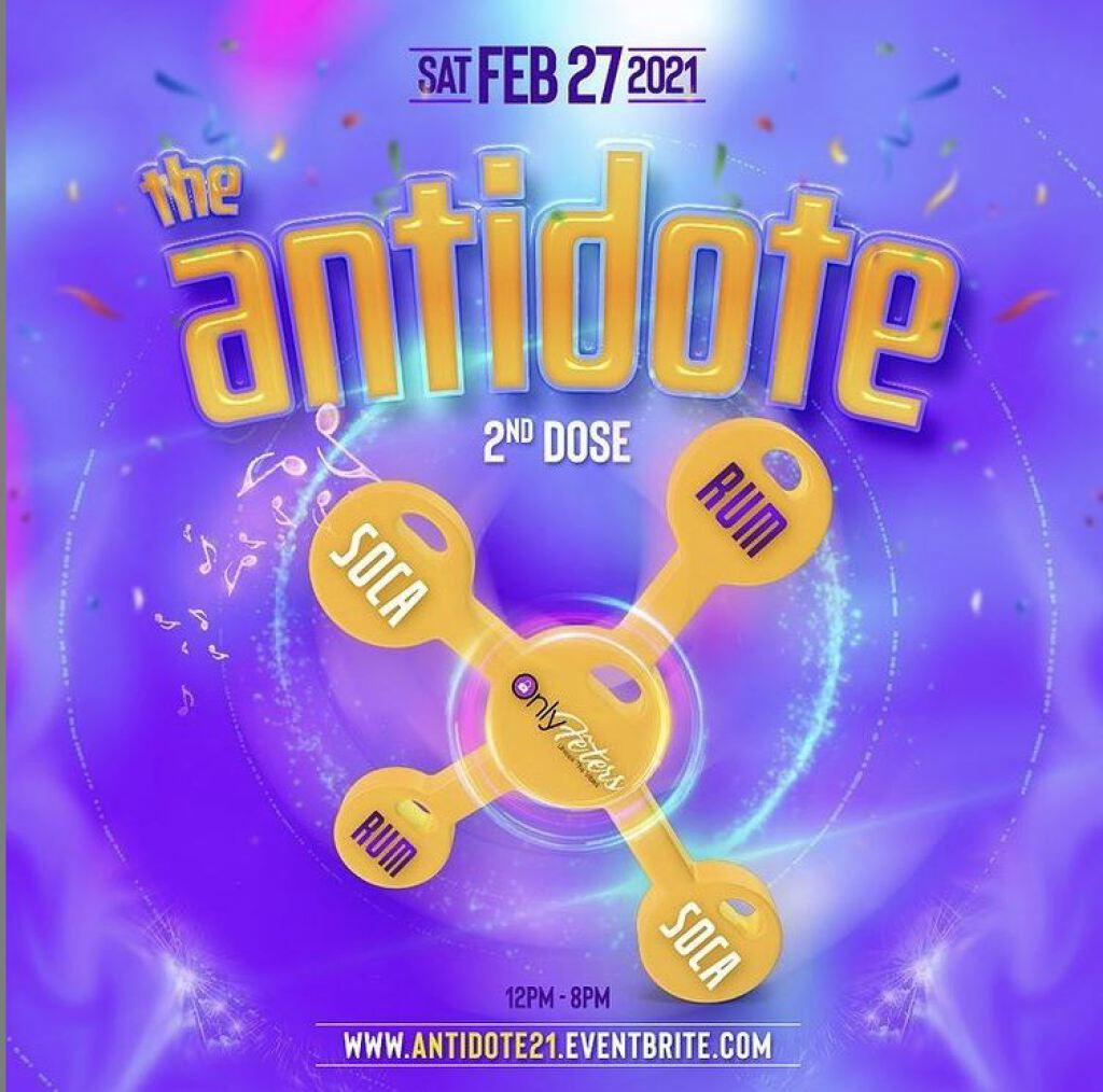 The Antidote - 2nd Dose flyer or graphic.
