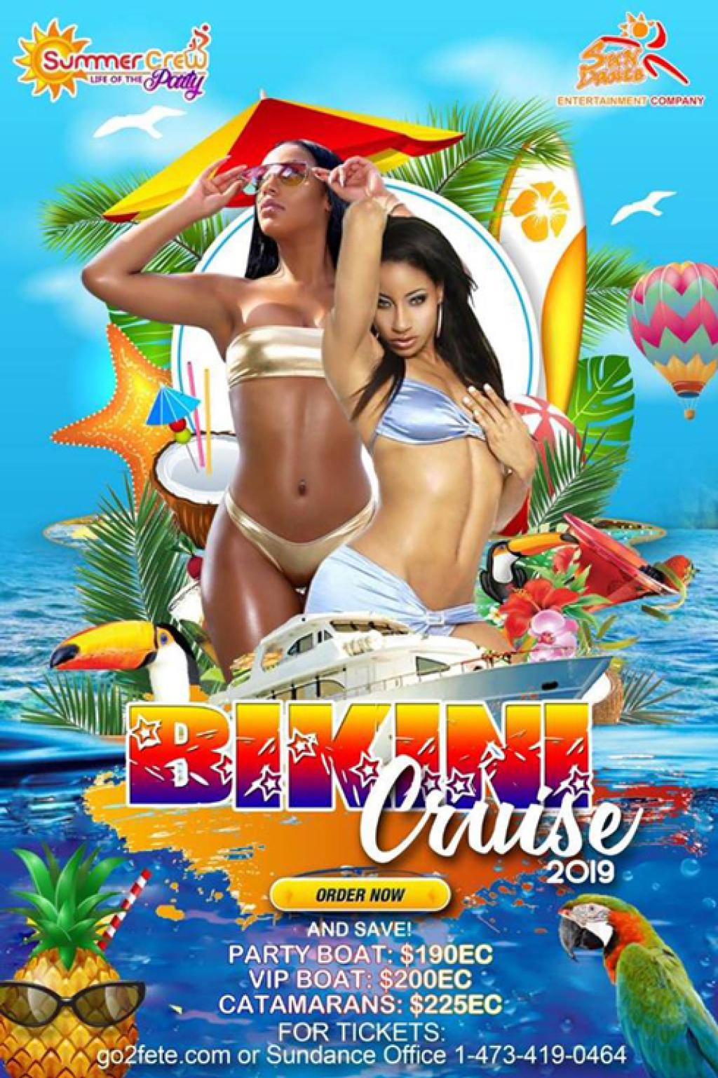 Bikini Cruise flyer or graphic.