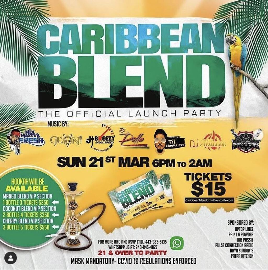 Caribbean Blend flyer or graphic.