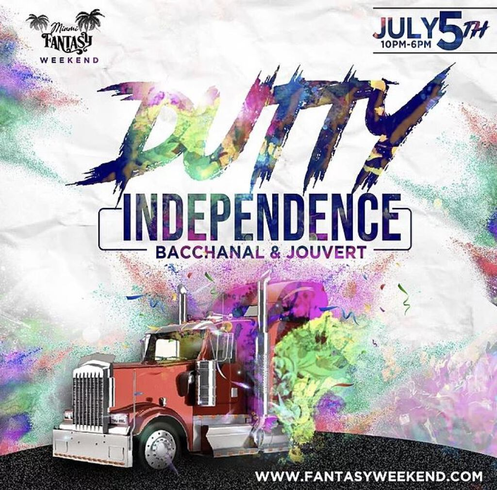 Dutty Independence- Bacchanal & Jouvert flyer or graphic.