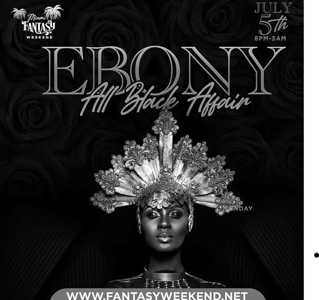 Ebony - All Black Finale flyer or graphic.