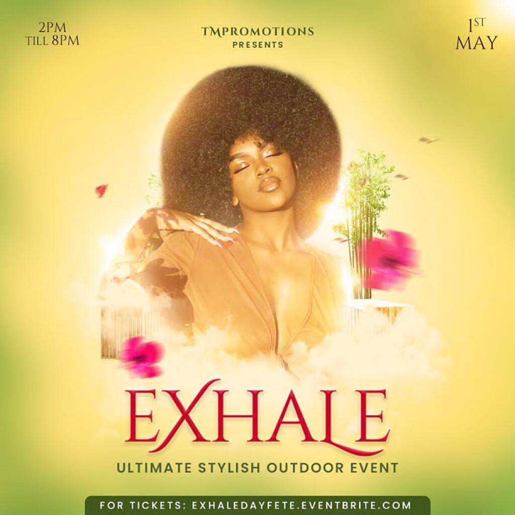 Exhale flyer or graphic.