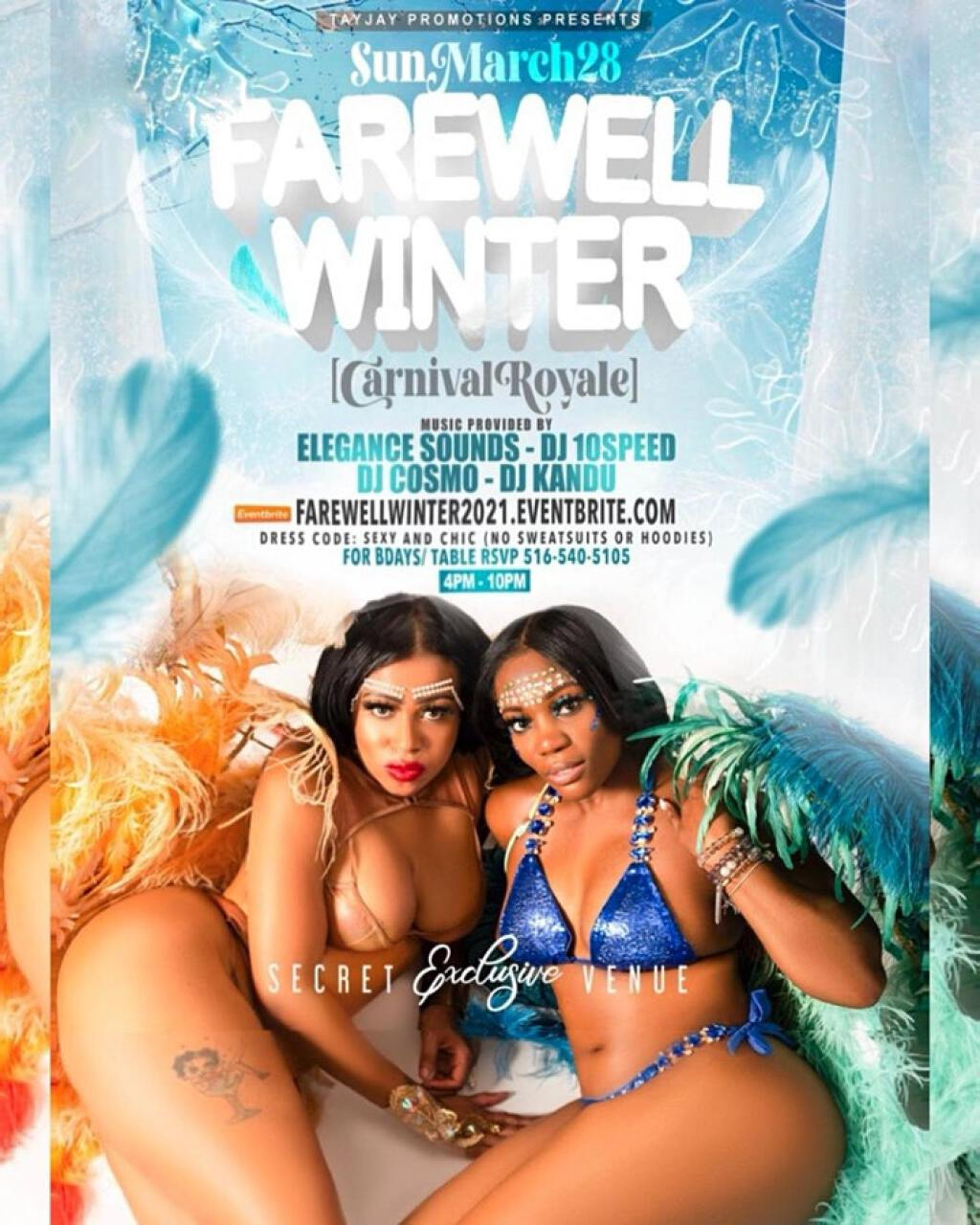Farewell Winter: Carnival Royale flyer or graphic.