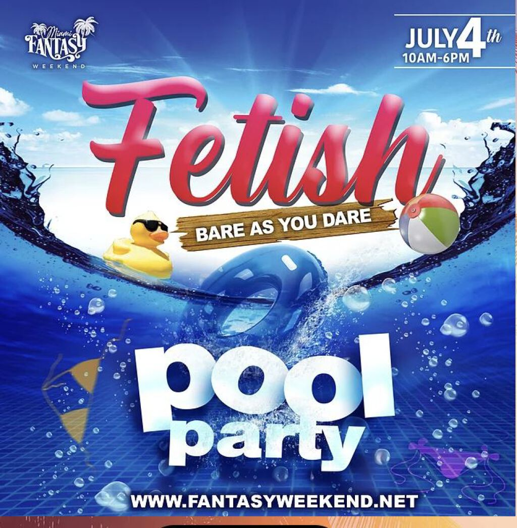 Fetish Pool Party flyer or graphic.