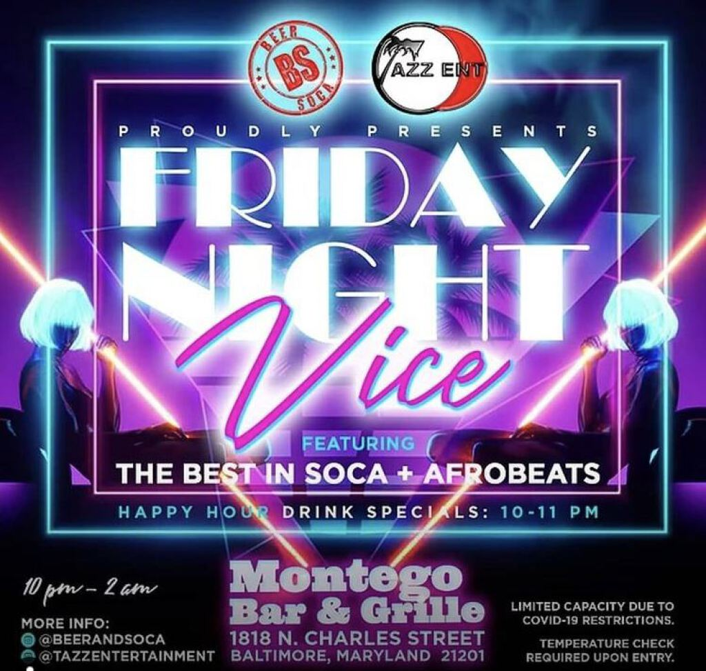 Friday Night Vice flyer or graphic.