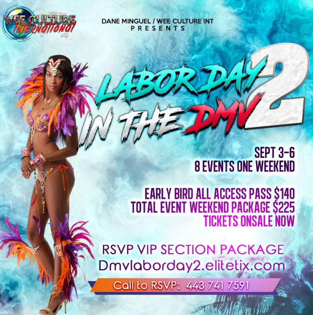 Labor Day In The DMV- Chocolate Jouvert flyer or graphic.