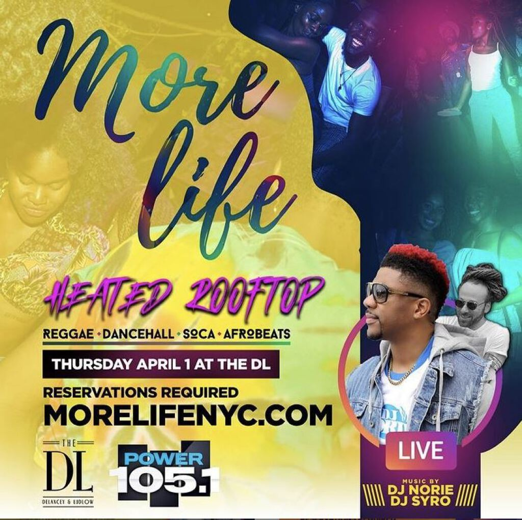 More Life+ DJ Norie flyer or graphic.
