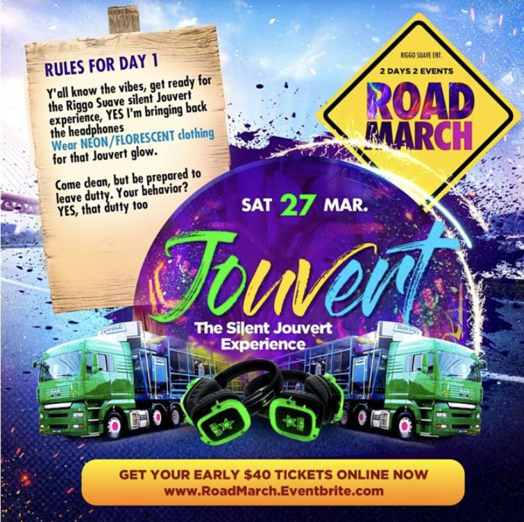 Road March Weekend- Jouvert The Riggo Way flyer or graphic.