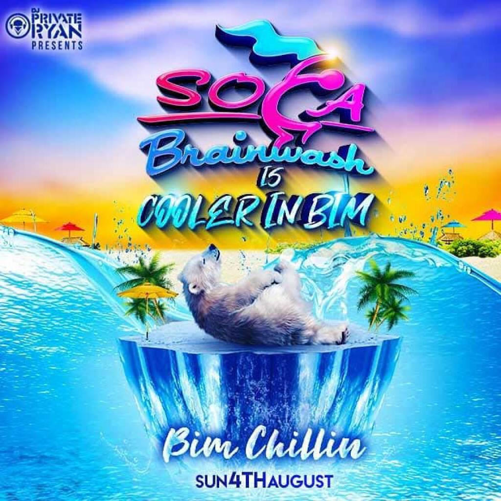 Soca Brainwash - Cooler In BIM  flyer or graphic.