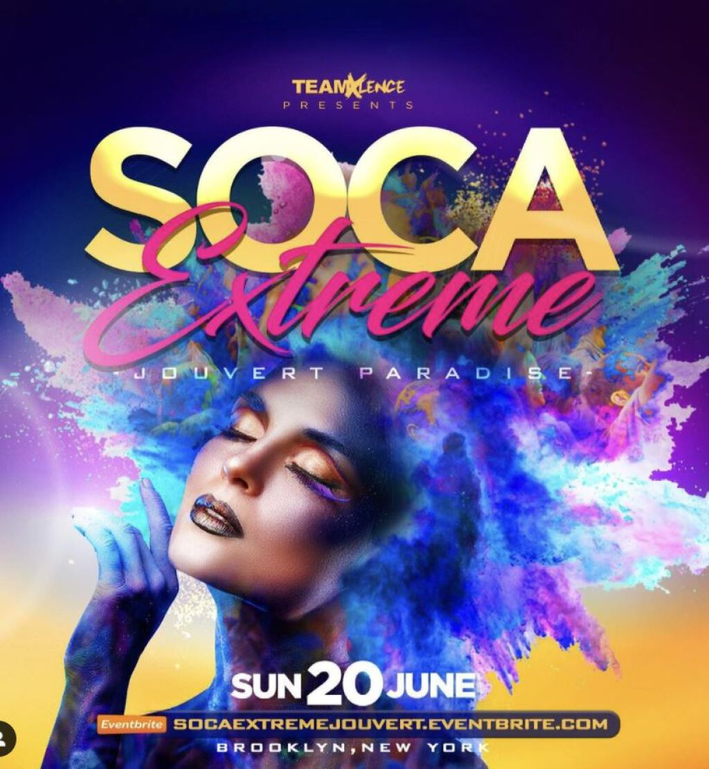 Soca Extreme Jouvert Paradise flyer or graphic.