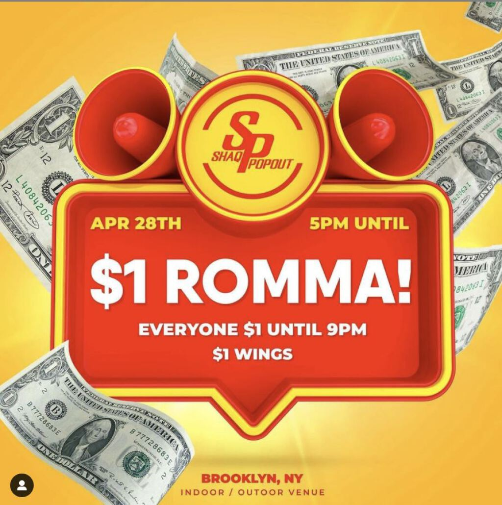 $1 Romma flyer or graphic.