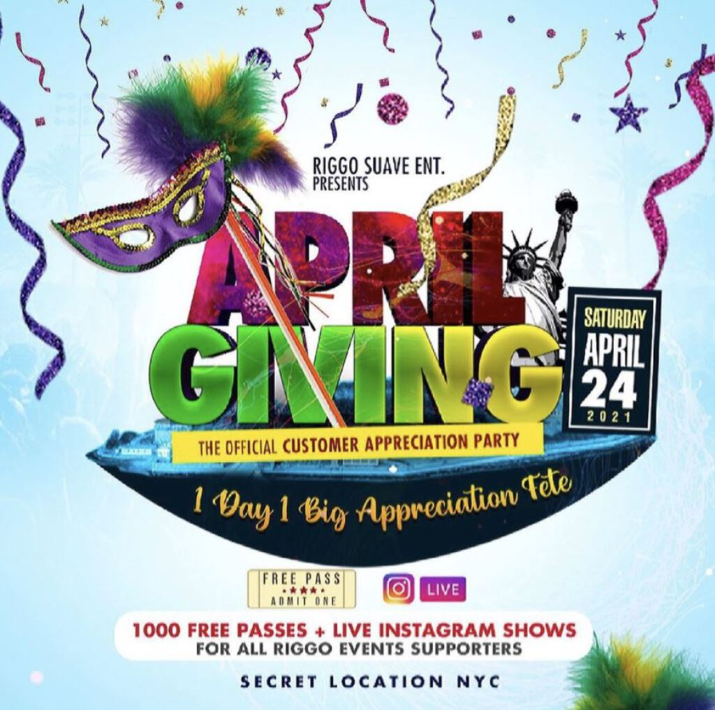 April Giving  flyer or graphic.