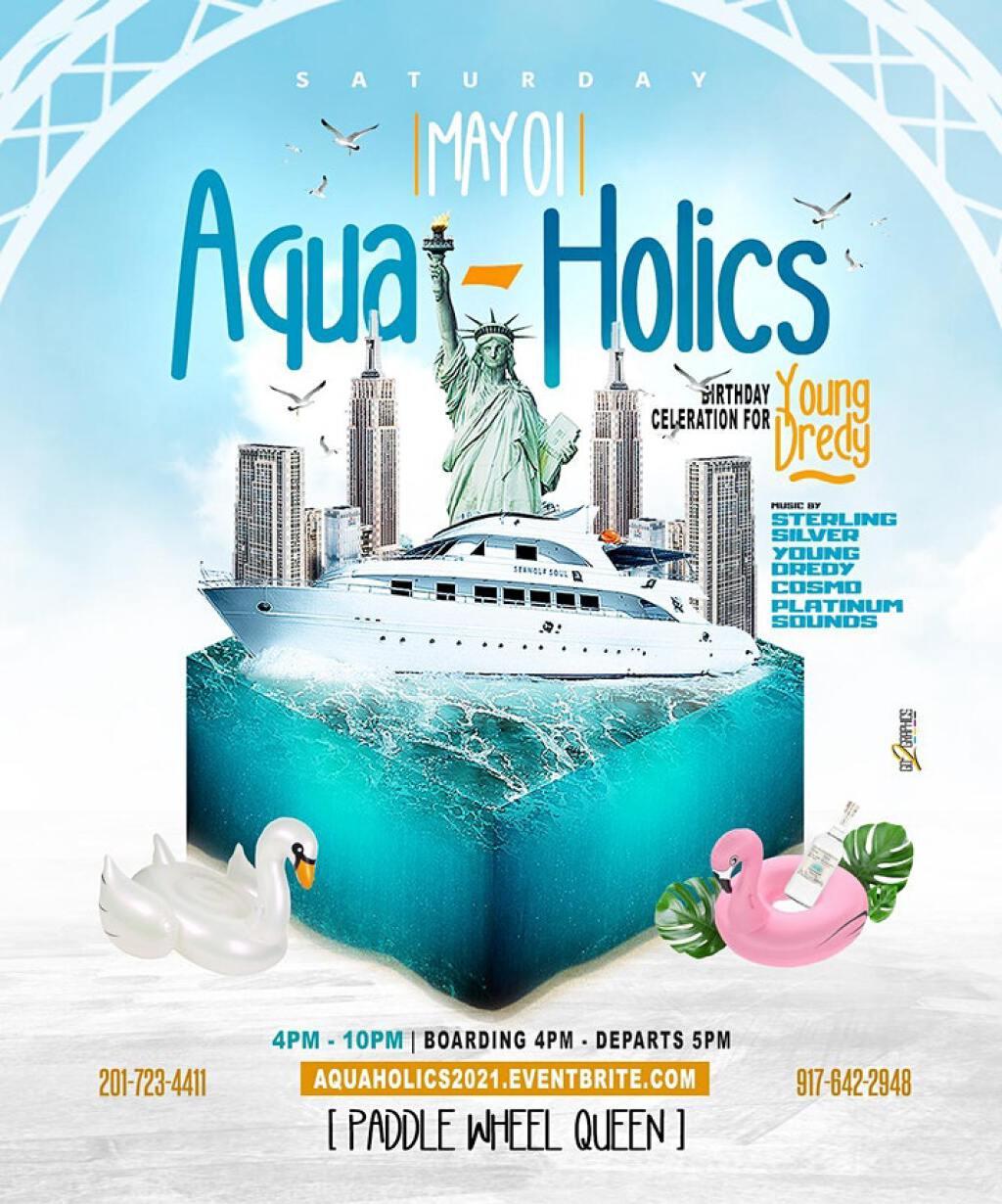 Aqua-Holics Boatride flyer or graphic.