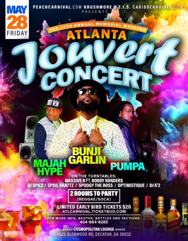 Atlanta Jouvert Concert 2021 flyer or graphic.