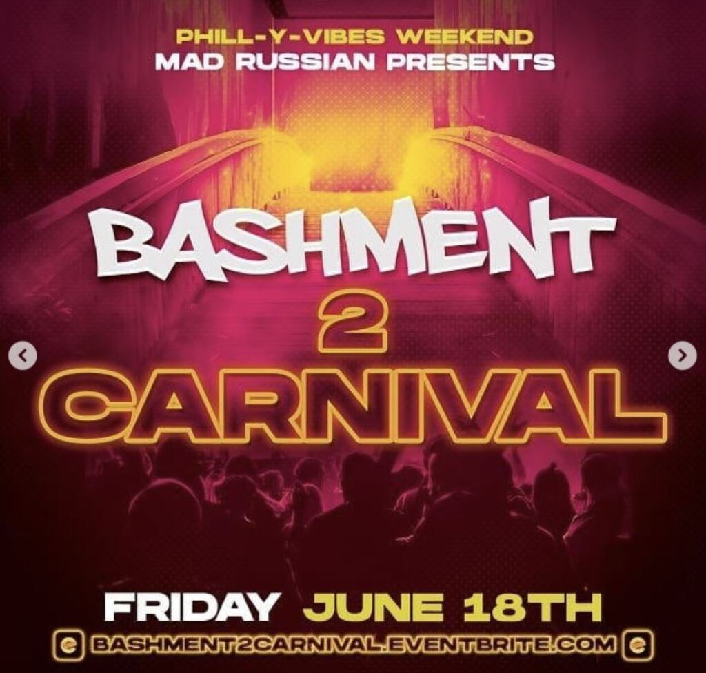 Bashment 2 Carnvial flyer or graphic.