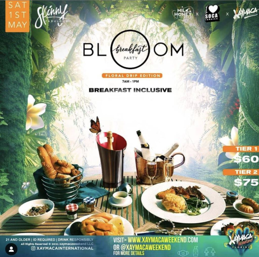 Bloom Breakfast Party  flyer or graphic.