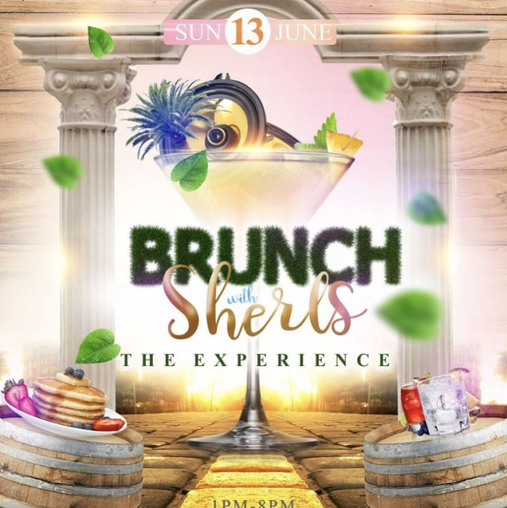 Brunch with Sherls -The Experience flyer or graphic.