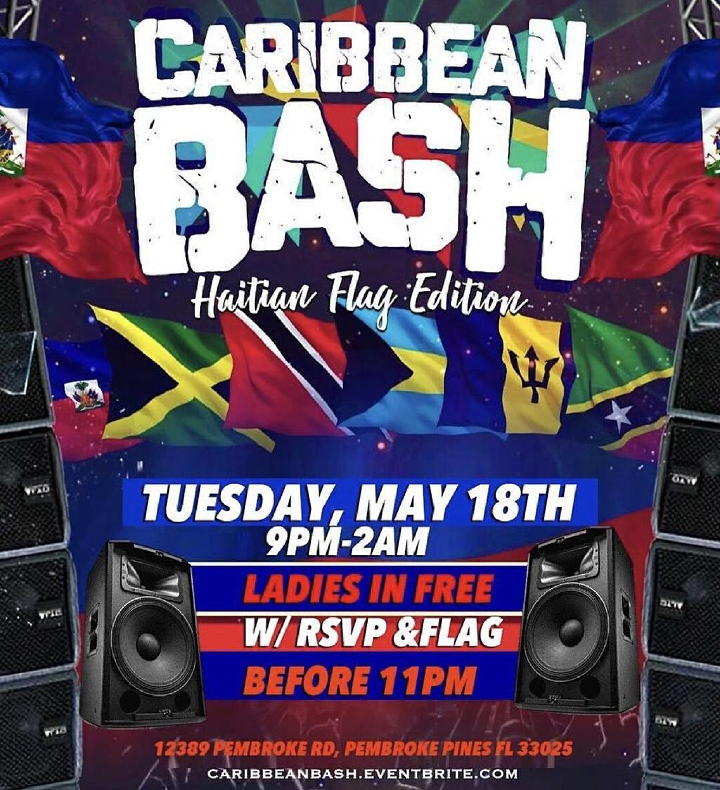 Caribbean Bash (Haitian Flag Edition) flyer or graphic.