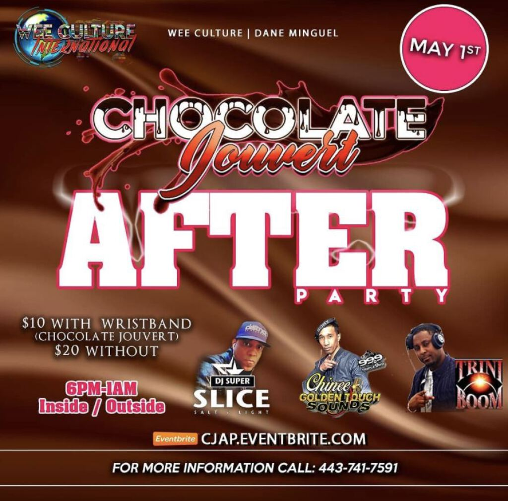 Chocolate Jouvert After Party flyer or graphic.