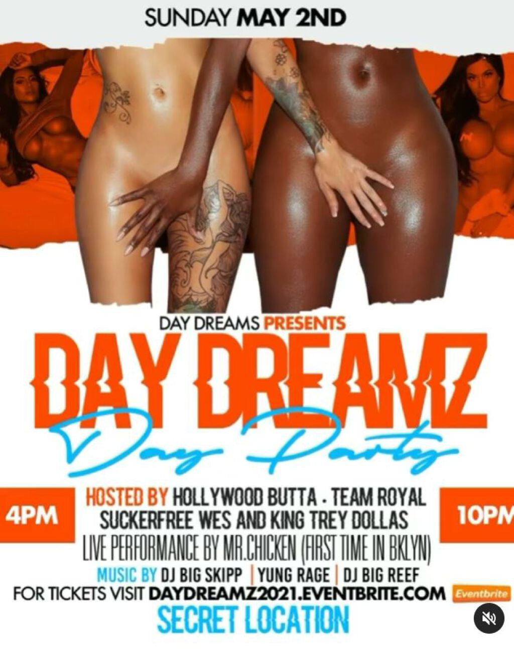 Day Dreamz Day Party flyer or graphic.